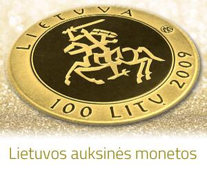 visos Lietuvos auksinės monetos