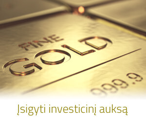 Investicinio aukso parduotuvė