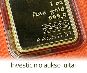 Investicinis auksas geriausiomis sąlygomis - AUREA VERUM